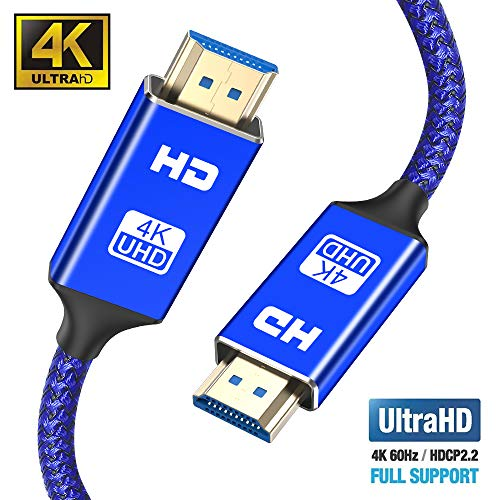 Snowkids Hdmi Kabel 2m,2.0 a/b Highspeed mit Ethernet, 4K hdmi Kabel 2.0/1.4a, Video UHD 2160p, Ultra HD 1080p, 3D, ARC, CEC, Xbox PS3 PS4 PC (Video Kabel Ein Hdmi De)