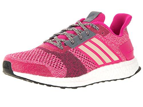 Adidas Performance Ultra Boost Street Running Shoe,grey/white/glow Purple,5 M Us