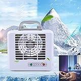 Raffreddatore d aria fredda ad acqua-TianranRT♕ Mini condizionatore d'aria portatile raffreddante raffreddato ad aria artico ventilatore umidificatore,bianca