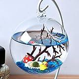 #1: Phenovo Artificial Sea Hornbeam Aquarium Fish Tank Decoration LED String Light Vase Ornament