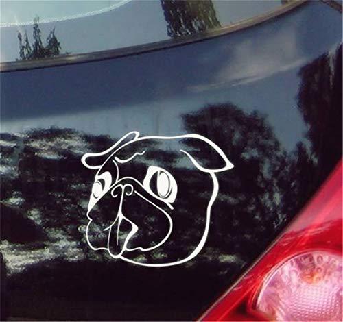 stickers muraux miroir pas cher Sticker Chiot bouledogue doux pour voiture