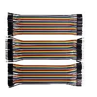 CAOLATOR 40x 20cm 3Pcs (Female-female,Female-male,male-male) Jumper wire Kabel 2.54mm 0.1 in Dupont Kabel F/F für Arduino Platine (#3)