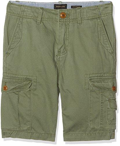 Quiksilver Jungen Crucialbattlyth Crucial Battle Cargo-Shorts, Four Leaf Clover, 26/12 (13 Twill Herren Stripe)