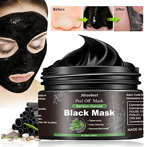 Black Mask, Peel off Maske, Mitesser Maske, Bambus Holzkohle Peel Off Maske, Poren reinigen Anti Öl...