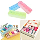 #3: Inovera Cosmetic Makeup Storage Drawer Organiser Set of 8, Assorted Colour