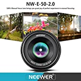 Neewer NW-E-50-2.0 50mm f/2.0 Manueller Fokus Prime - 7