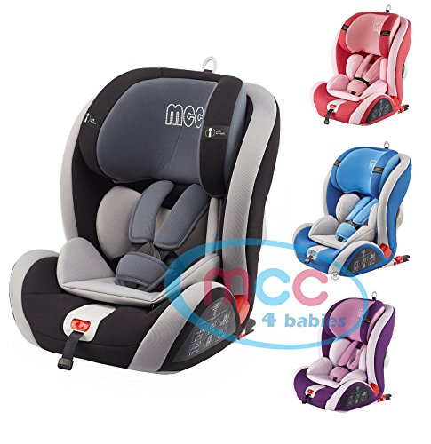 CHILD BABY CAR SEAT SAFETY BOOSTER ISOFIX FOR GROUP 1//2//3 9-36 KG GRAPHIT