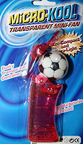 Kool Super Cool Micro Pocket Fan Personal Mini Euro Football
