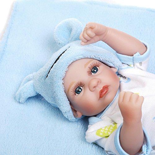 Willdo Reborn Babypuppe, 100% Lebendig Handmade Reborn Babys Full Soft Silikon 10