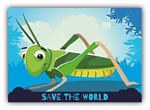 save-the-world-grasshopper-cartoon-animal-greenpeace-slogan-car-bumper-sticker-decal-12-x-10-cm