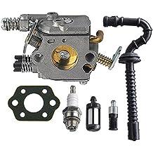 HIPA Carburateur avec Joint et Filtre à Essence/ Huile Tuyau Bougie d'Allumage pour Tronçonneuse STIHL MS210 MS230 MS250 021 023 025 ZAMA C1Q-S11E C1Q-S11G