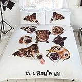 It's a Dog's Salvavidas Estampado Conjunto De Funda Nórdica con Funda de almohada - Blanco, 230 x 220 x 0.2cm