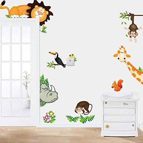 Elefant Wandaufkleber,Wandtattoo Aufkleber Kinderzimmer Kinder Baby Kindergarten Wohnzimmer (90X30cm) ()