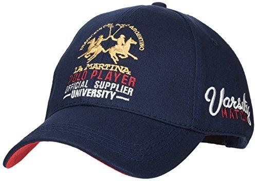 La Martina Herren Cap Baseball Twill Blau (Navy 07017), One Size (Herstellergröße: TU)