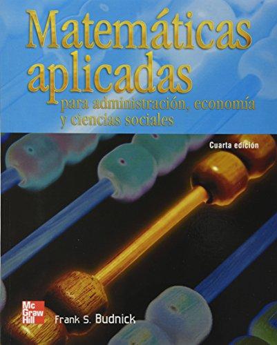 Matematicas apli.adm.economia,ciencias sociales