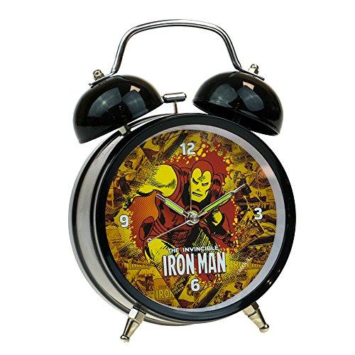 Comic Book Superhero - Reloj despertador tradicional, color negro