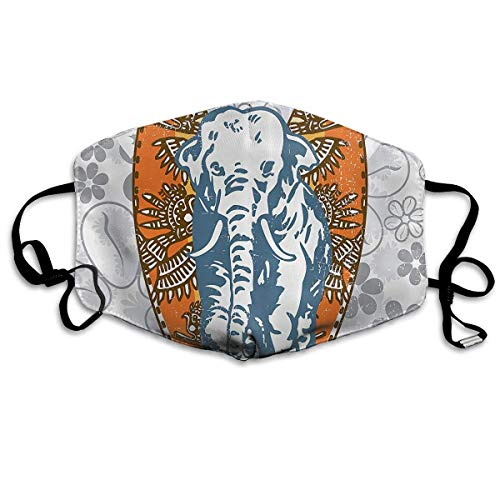 Daawqee Mund Maske, Surfboards and Elephant Floral Adult Fashion Anti Staub Schutzhülle Washable Safety 100{aaaeac42eb5bb5d40caac26649adeb7c69117a27b723de1c573834b15ac08e3b} Polyester Comfortable Breathable Health Half Face Masks
