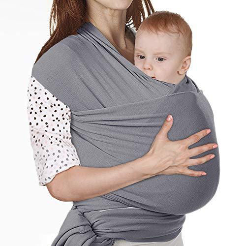 Lictin Fascia Porta Bambino Fascia Porta Bebè Elastica Baby Wrap Marsupio Fascia Neonato per Neonati e Bambini Fino 16 kg Morbido e Confortevole