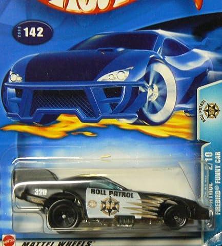 Hot Wheels 2003 1:64 Scale Roll Patrol Black & White Pontiac Firebird Funny Car Police Die Cast Car #142