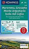 Maremma, Grosseto, Monte Argentario, Isola del Giglio: 4in1 Wanderkarte 1:50000 mit Aktiv Guide und Detailkarten inklusive Karte zur offline ... 1:50 000 (KOMPASS-Wanderkarten, Band 2470)