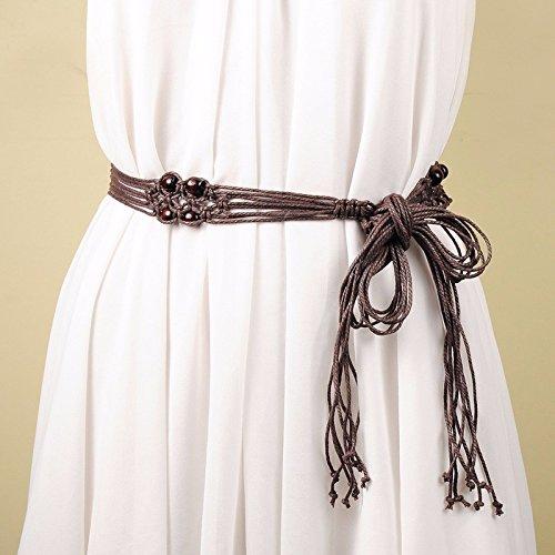 Zhaojianing cinture tessute fashion da donna dress long tassels catene ornamentali