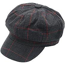 JEDAGX Unisex Mujeres Gorras de Moda Gorras Planas Sombrero de Boina con  Pico Baker Boy Newsboy a00a6e02056