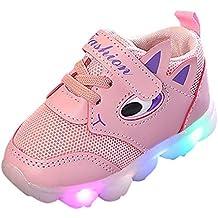 d6e3d952bbb0a Garçons Filles Basket Sneaker Basses LED Lumineuse Sport Doux Chaussures  Respirant Amortisseur