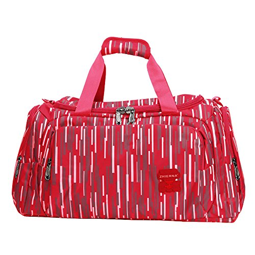 5 ALL Sporttasche Reisetasche Wasserdicht Groß 35 Liter Damen Herren für Sport Urlaub (Violett) Rot