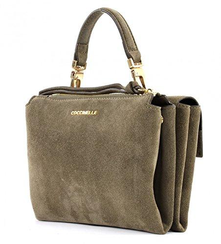 Coccinelle Arlettis Suede Mini Bag Borsa a mano pelle 20 cm Verde