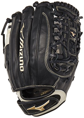 Mizuno GGE50FP Global Elite Left Handed Throw Fastpitch Fielders Mitt, Black, 12.00-Inch -