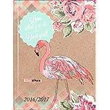 Brunnen–Agenda escolar (2016/17wattiert A6Calendario 1T/1S Flamingo
