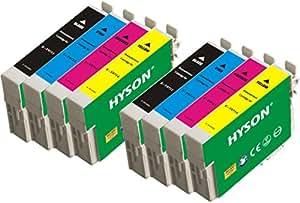 8 Confezione ( 2 Imposta)HYSON RigenerataEpson Cartuccia d'inchiostro T0711 T0712 T0713 714(T0715) Compatibile per Stylus D78 D92 D120 DX400 DX4000 DX4050 DX4400 DX4450 DX5000 DX5050 DX6000 DX6050 DX7000 DX7400 DX7450 DX8400 DX8450 DX9200 DX9400F DX9450 S20 S21 SX100 SX105 SX110 SX115 SX200 SX205 SX209 SX210 SX215 SX218 SX400 SX405 SX410 SX415 SX510W SX515W SX600FW SX610FW Office B40W B300F BX310FN BX600FW BX610FW 2 Nero 2 Ciano 2 Magenta 2 Giallo