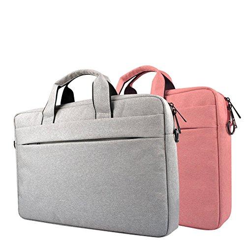 Laptoptasche Aktentaschen Umhängetasche Schultertasche Laptoptasche Notebooktasche Tragetasche Messenger Bag Reisetasche Notebook / MacBook / Ultrabook für 13.3-15.6 Zoll Laptop Rosa
