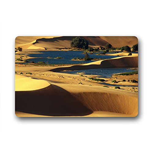 """Personal Custom oasi del deserto Zerbino Personalizzato Doormat 18""""x30"""" about 46cmx76cm"""