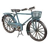 Deko-Woerner Fahrrad blau 28x8x16cm Metall