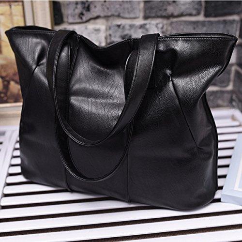 FZHLY Europa E Negli Stati Uniti Tote Bag Semplice 2017 Borsa Delle Nuove Donne,Black Black