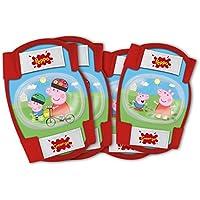 Unbekannt Disney Peppa Pig Set de 2 protectores para la rodilla + 2 protectores de codo rojo/verde
