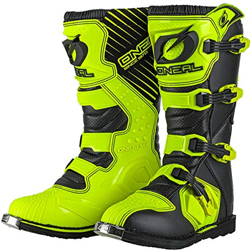 0329-5101 - Oneal Rider EU Motocross Boots 44 Neon Yellow (UK 9.5)
