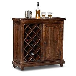 HomeEdge Cambria Bar Cabinet Teak HEBC002