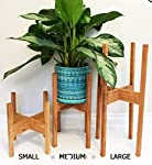 Red Wood Sheesham Wood Flower Plant Stand