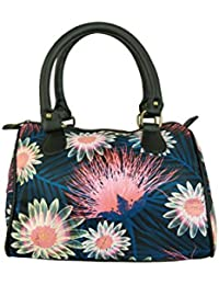 Chelsey Chelsey Black Floral Printed Speedy Stylish Handbag For Women And Girls
