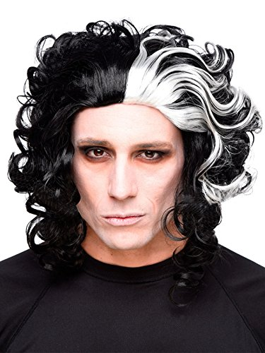 Generique - Halloween-Perücke Horror-Friseur schwarz-weiß