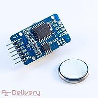 AZDelivery ⭐⭐⭐⭐⭐ Real Time Clock, horloge temps réel RTC DS3231 I2C et pile gratuite pour Arduino, Raspberry Pi et microcontrôleur
