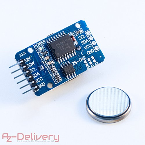 AZDelivery ⭐⭐⭐⭐⭐ Real Time Clock RTC DS3231 e Batteria gratuita inclusa I2C per Arduino con Ebook gratuito!