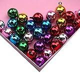 AAGOOD 10 Bunte Stücke Mini Weihnachtsglocken Kleine Metallglocken Hundehalsband Pet Supplies Farbe Sortiert 20MM