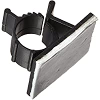 AKORD Pack de 25 abrazaderas ajustables de plástico negro con base adhesiva para cables de nailon
