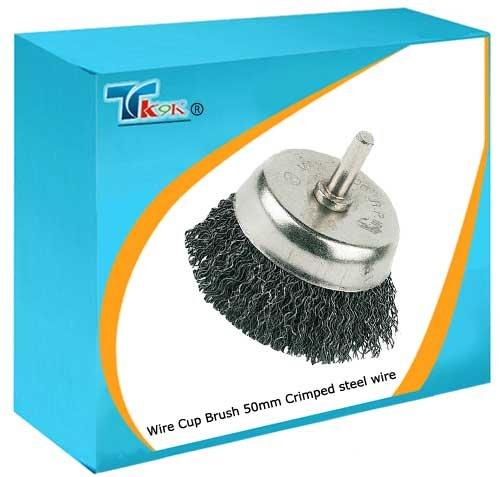 TK9K ®-Power Tool Accessories Draht Rotary Topf-Drahtbürste Becher cup rste 50 mm Drahtbürste zum Entfernen von Sand Rost und Schweißen preparation. 6 mm Max 4500rpm Aufsteckhalter befestigt.
