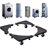 Multi-functional Movable Adjustable Base with Casters Mobile Case/dolly/roller for Washing Machine, Dryer and Refrigerator, C