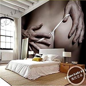 Zyzdsd Große Fototapete 3D Modern Schöne Schlafzimmer Wallpapers Für Wände Art DecorMural 3D Wandbild Sex Girl Boy Love-120X100CM