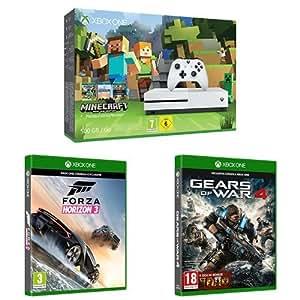 Xbox One S 500 Gb + Minecraft + Forza Horizon 3 + Gears of War 4